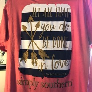 Simply southern coral tee